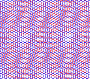 twisted bilayer graphene moire pattern